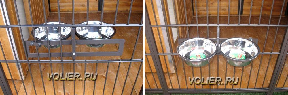 Окно для подачи корма вольеров для собак.